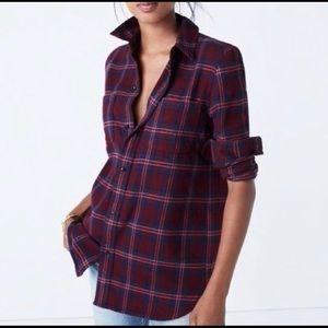 Madewell Classic Plaid Flannel Boyfriend Shirt M